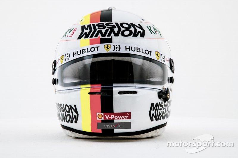 Casco di Sebatian Vettel, Ferrari