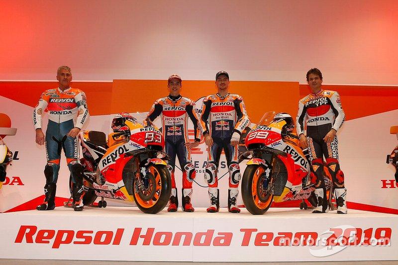 Мік Дуен, Марк Маркес, Хорхе Лоренсо, Алекс Крівілль, Repsol Honda Team