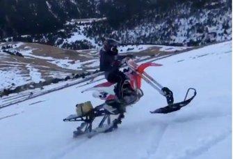 Marc Márquez moto snow