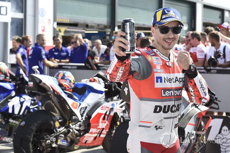 Pole sitter Jorge Lorenzo, Ducati Team
