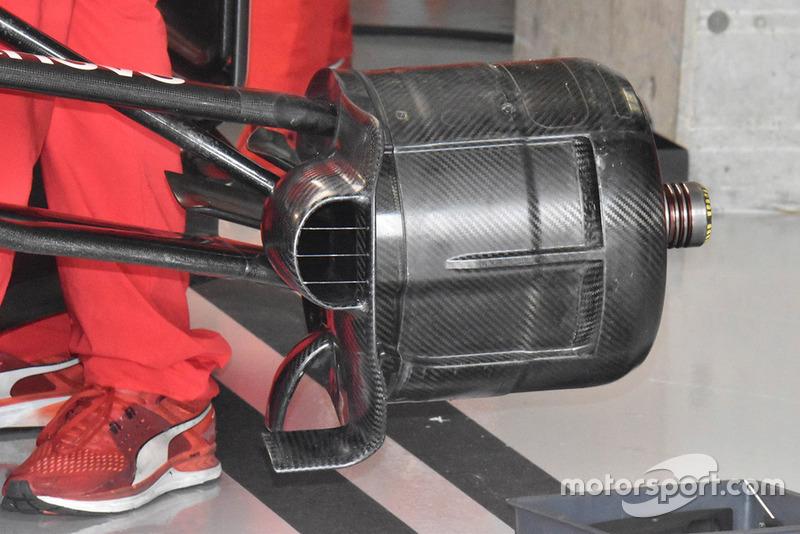 Ferrari SF71H detalle de conducto de freno delantero
