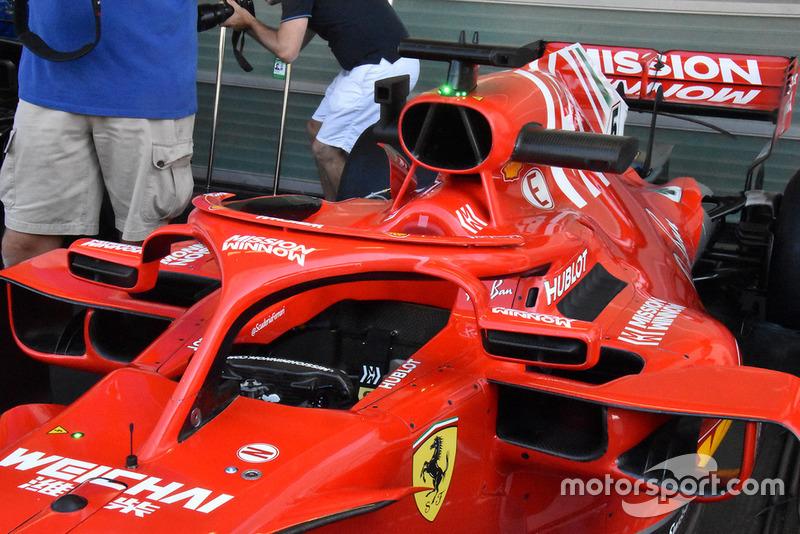 Cabina del Ferrari SF71H