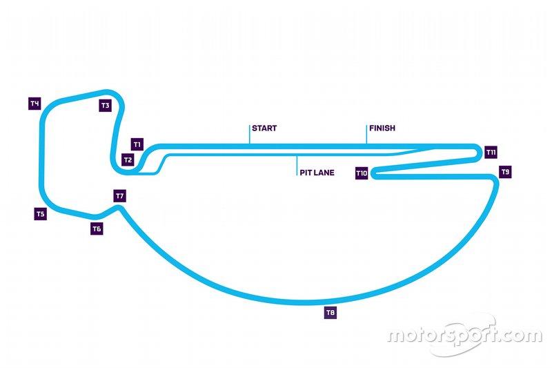 Nouveau tracé de l'E-Prix de Santiago