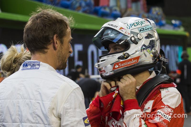 Sebastian Vettel und Jenson Button