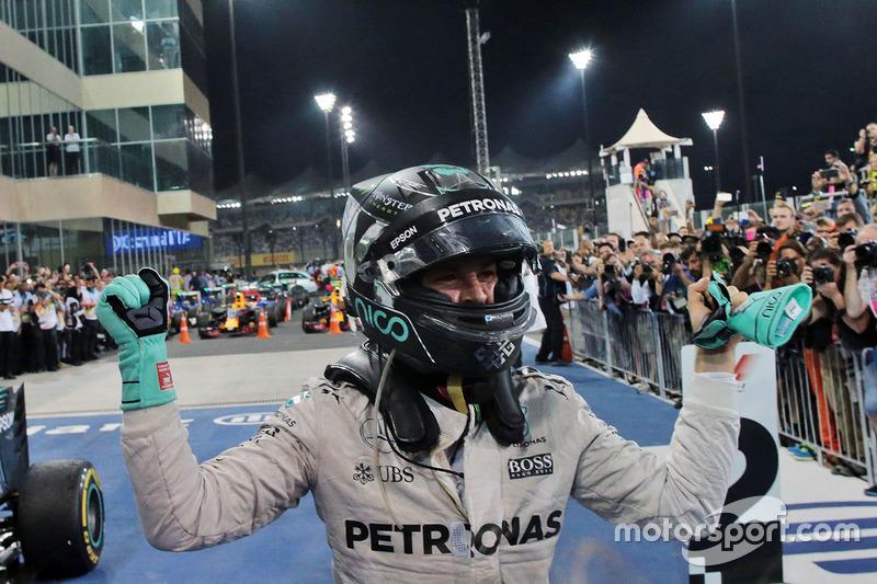 Nico Rosberg, Mercedes AMG F1 celebra su campeonato en parc ferme
