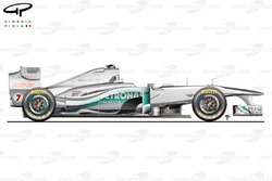 Mercedes W02 side view, Italian GP