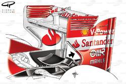 Ferrari F138 rear wing, British GP