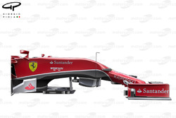 Ferrari F14 T side profile with suspension and wheel not shown