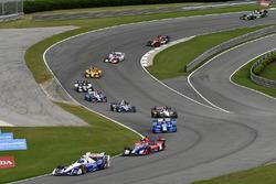 Helio Castroneves, Team Penske Chevrolet, Alexander Rossi, Herta - Andretti Autosport Honda, Tony Kanaan, Chip Ganassi Racing Honda