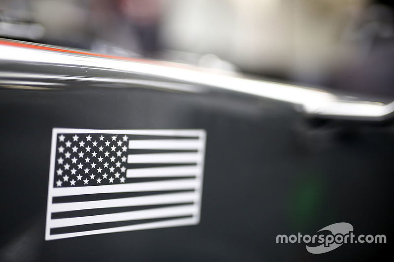US flag on the Haas F1 Team VF-17
