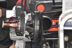 Haas F1 Team VF-17 front brake disc detail