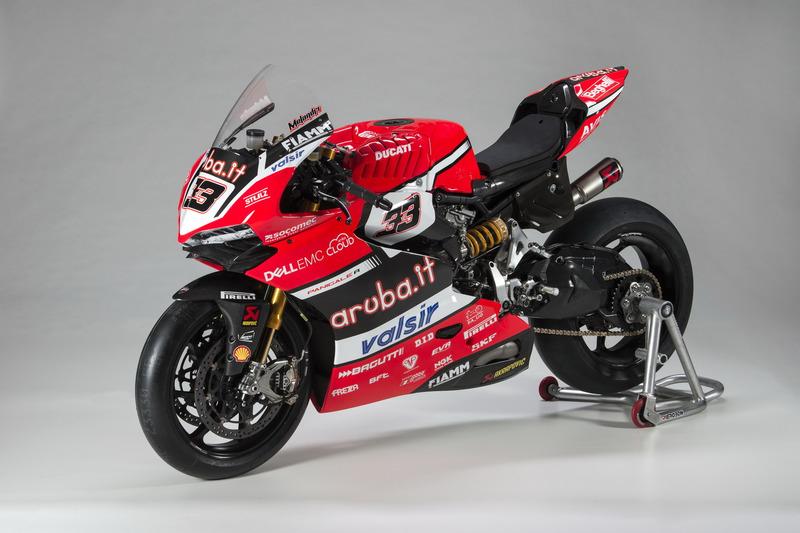 Detalle de la moto de Marco Melandri, Ducati Team