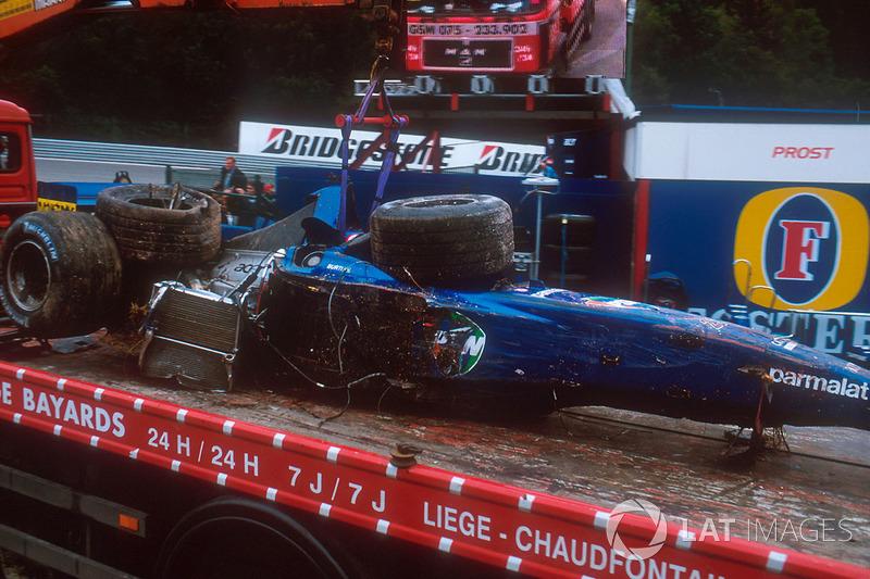 Luciano Burti, Prost AP04 kaza sonrası şasisi