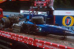 Prost AP04 di Luciano Burti dopo l'incidente