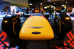 Aston Martin logo on the nose of a Red Bull