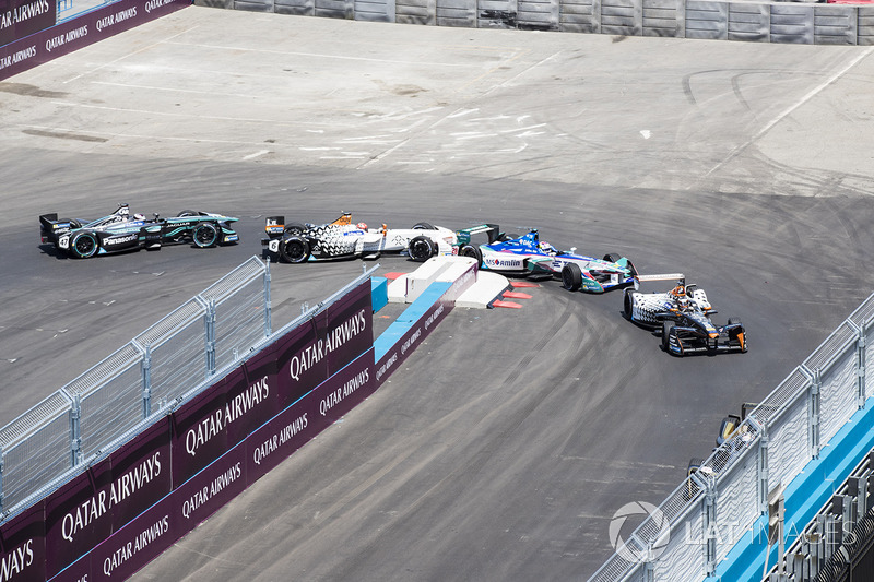 Jérôme d'Ambrosio, Dragon Racing, Antonio Felix da Costa, Amlin Andretti Formula E Team, Loic Duval, Dragon Racing, y Adam Carroll, Jaguar Racing
