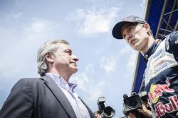 Carlos Sainz with Sébastien Ogier, M-Sport