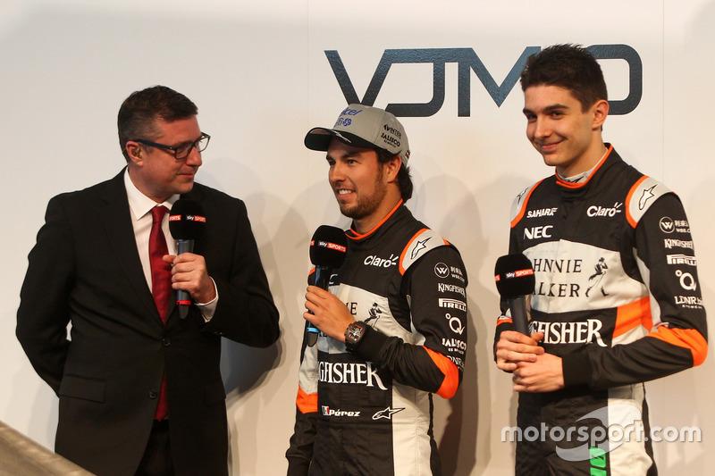 David Croft, Sergio Perez und Estaban Ocon