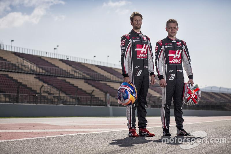 Romain Grosjean, Kevin Magnussen, Haas F1 Team