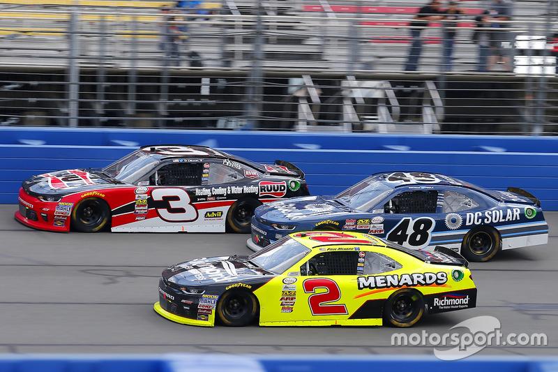 Paul Menard, Richard Childress Racing, Chevrolet; Brennan Poole, Chip Ganassi Racing, Chevrolet; Ty Dillon, Richard Childress Racing, Chevrolet