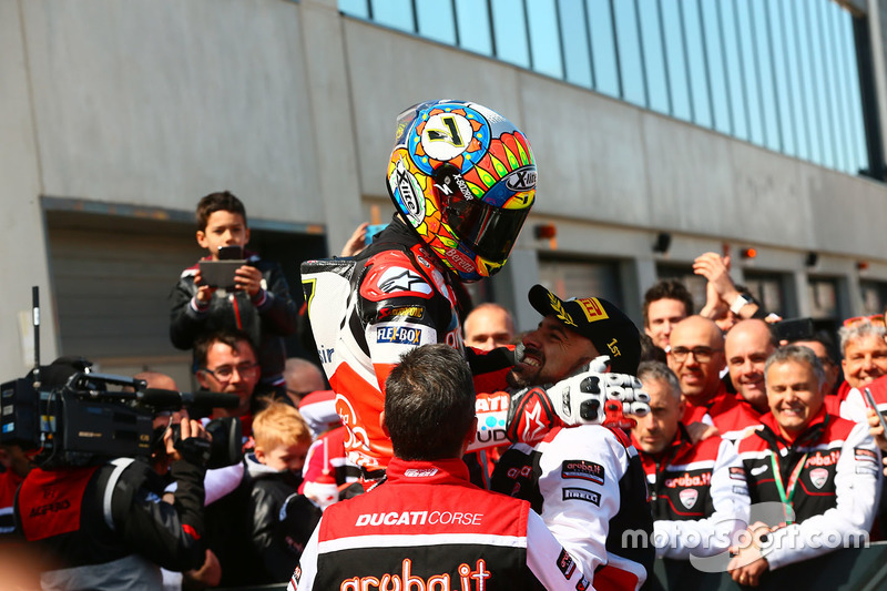 Race winner Chaz Davies, Ducati Team