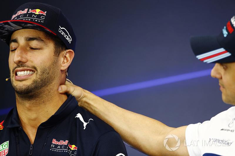 Daniel Ricciardo, Red Bull Racing, Felipe Massa, Williams, in the press conference