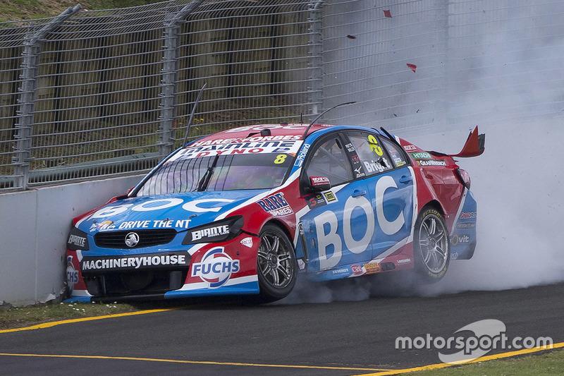3. Джейсон Брайт, Brad Jones Racing Holden crash