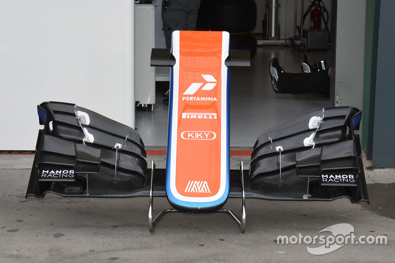 Manor Racing MRT05 new front wing