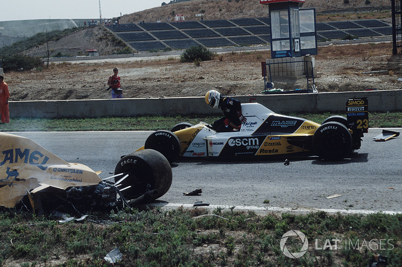 Pierluigi Martini, Minardi di lokasi kecelakaan Martin Donnelly, Team Lotus, pada GP Spanyol 1990