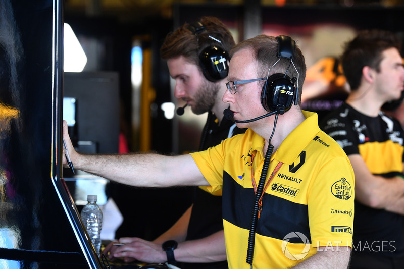 Renault Sport F1 Team garage