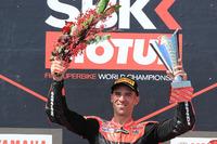 Podium: race winner Marco Melandri, Aruba.it Racing-Ducati SBK Team