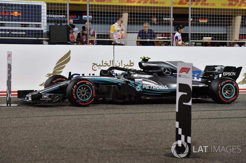 Valtteri Bottas, Mercedes-AMG F1 W09 EQ Power+ en parc ferme