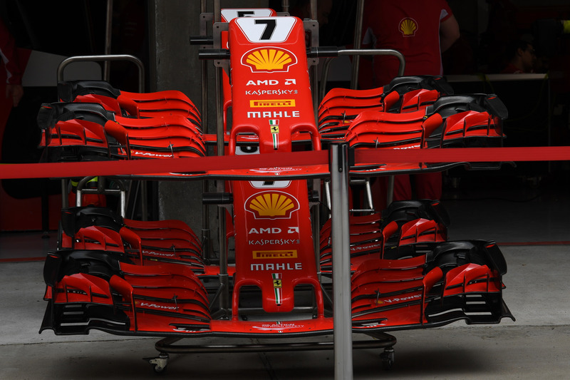 Ferrari SF-71H nose and front wings