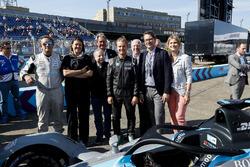 Jean Todt, FIA President, Alejandro Agag, CEO, Formula E, Nico Rosberg, Formula 1 World Champion, Formula E investor, with the new Gen2 Formula E Car