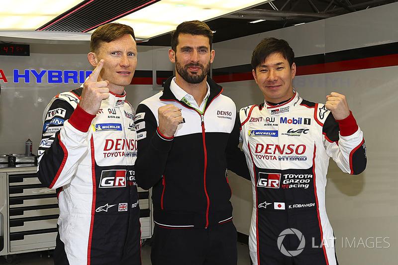 Ganadores de la pole #7 Toyota Gazoo Racing Toyota TS050: Mike Conway, Jose Maria Lopez, Kamui Kobayashi