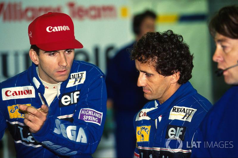 Damon Hill, Williams y Alain Prost, Williams