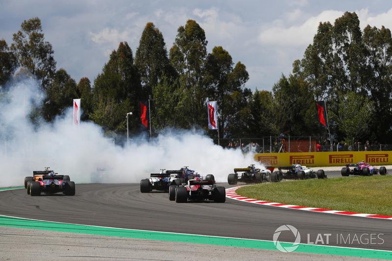 A nagy baleset és a végeredmény - F1 2018