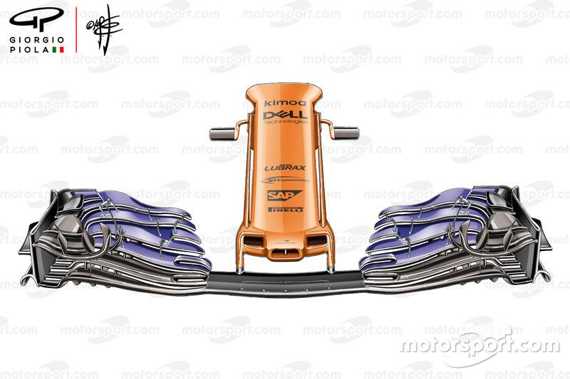 Ala frontal del McLaren MCL33 usada en España