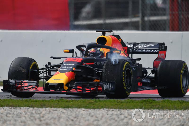 Max Verstappen, Red Bull Racing RB14, testacoda