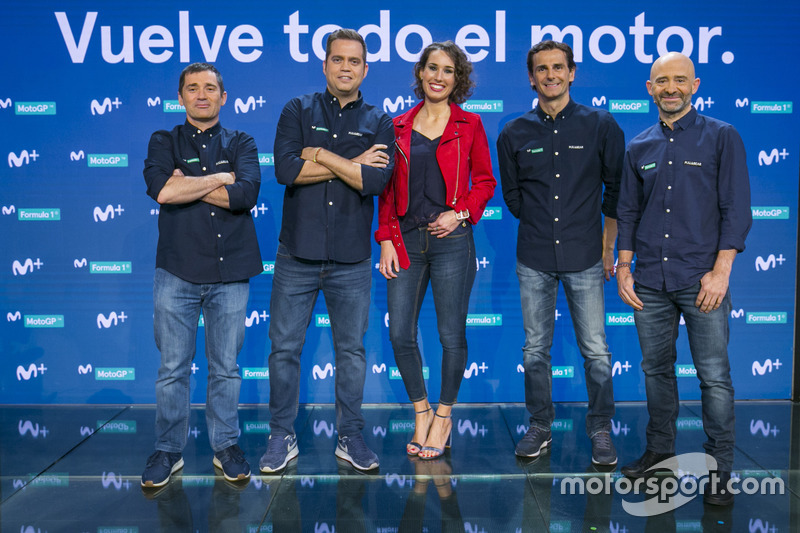 Toni Cuquerella, Iñaki Cano, Laura Naranjo, Pedro de la Rosa y Antonio Lobato