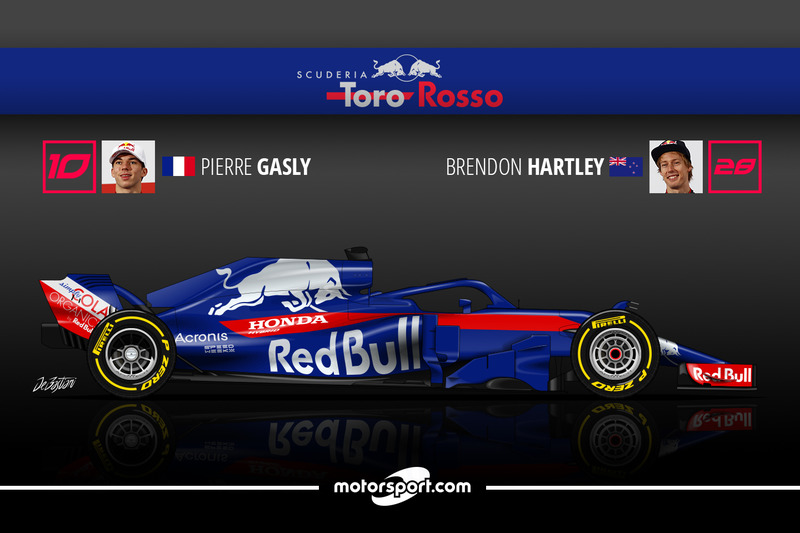 Pierre Gasly 12 Brendon Hartley 3