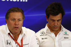 Zak Brown, Executive Director, McLaren Technology Group, Toto Wolff, Executive Director Mercedes AMG