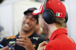 Sebastian Vettel, Ferrari, with tape on his neck