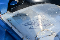 Carroll Shelby and Phil Remington signatures on the 1968 McLaren M6B