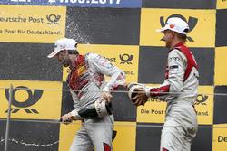 1. René Rast, Audi Sport Team Rosberg, Audi RS 5 DTM; 3. Nico Müller, Audi Sport Team Abt Sportsline