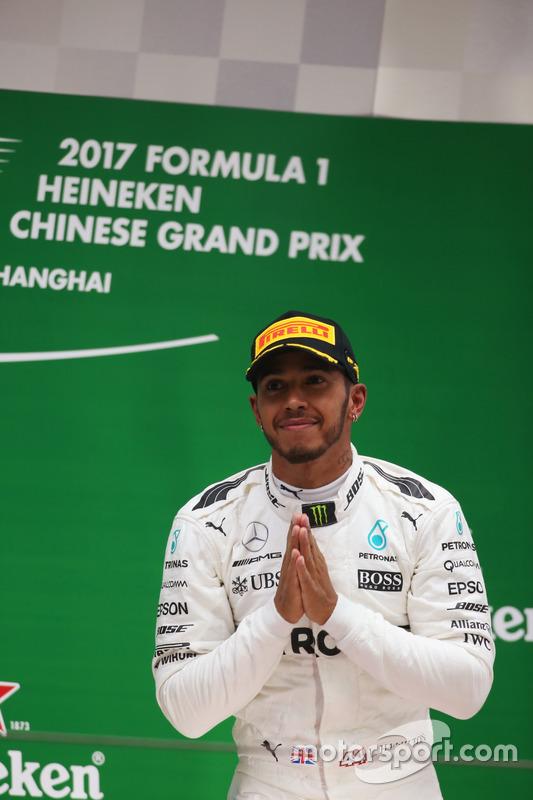 Podium: Lewis Hamilton, Mercedes AMG