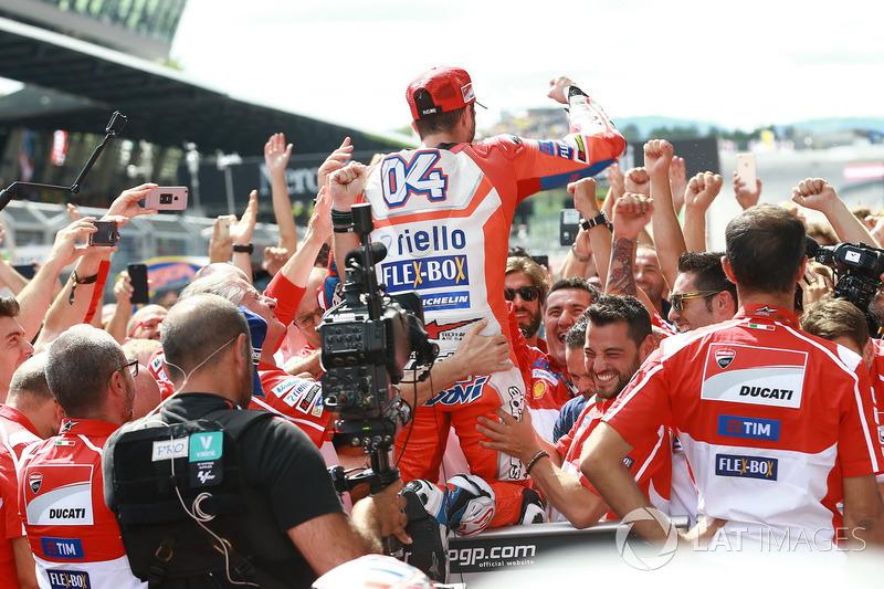 Race winnner Andrea Dovizioso, Ducati Team