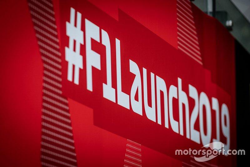 F1 launch 2019 hashtag logo