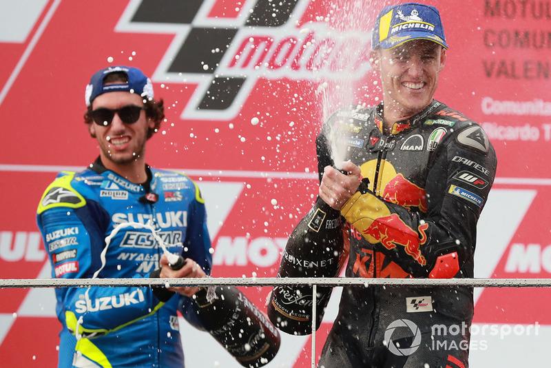 Podio: segundo, Alex Rins, Team Suzuki MotoGP, tercero, Pol Espargaro, Red Bull KTM Factory Racing