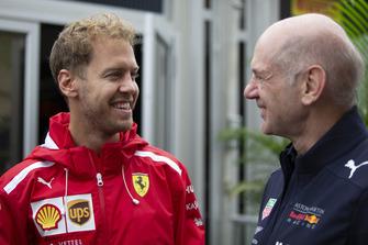 Sebastian Vettel, Ferrari and Adrian Newey, Red Bull Racing